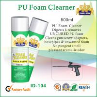 China Multi Functional PU Waterproof Spray Foam Cleaner For Windscreen / Glass / Chrome wholesale