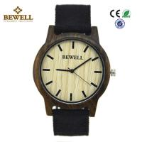 China Black Sandalwood Original Custom Wood Watches Hand Made Japan Pc21 Movement wholesale