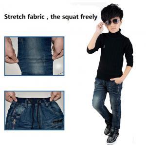 China Hot sell wholesale children clothing adjustable elastic waist kids boys jeans wholesale