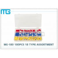 China 65pcs splice type Insulated heart shrink Terminal Assortment Kit Connector , Electrical Crimp Connector Kit wholesale