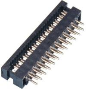 China 2.0mm DIP Plug Connector 2*12P PBT Black P/Bronze Tin Plating ROHS wholesale