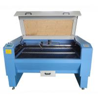 China High Efficiency Laser Leather Cutting Machine Blue Color With Double - Laser Cutting wholesale