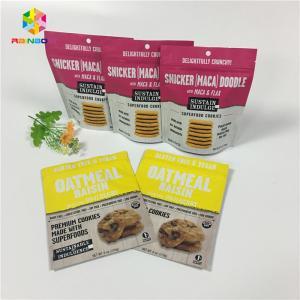 China Gravure Printing Stand Up Ziplock Packing Bags Vanilla Coffee / Milk Protein Powder wholesale