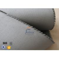 China Grey 1500gsm 1.5mm Silicone Coated Fiberglass Fabric For Welding Blanket wholesale