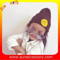 China AK170191 Sun Accessory fashion cheap winter knitted baby beanie hats for kids,MOQ only 3 pcs wholesale