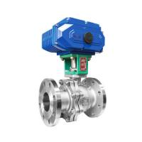 China Electric Actuated Ball Valve Stainless Steel Flanged Thread Connection on sale