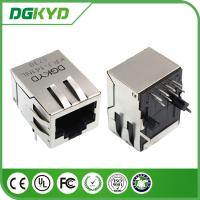 China Front Pin integrated Magnetics RJ45 Modular Jack with Copper Alloy Shell Tab Down wholesale