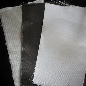 China Dust / Air / Powder Filtration Filter Press Cloth 360gsm E Glass Non Alkali Graphite Fiberglass Cloth wholesale