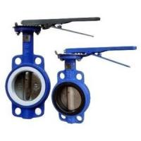 Quality Manual Operated Wafer valve butterfly Ductile Iron GGG40 Body,PN16,JIS 10K,150LB for sale