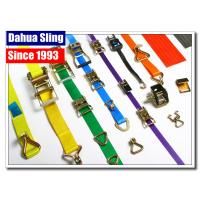 China Stainless Steel Buckled Lorry Ratchet Straps , Motorbike Tie Down Straps Flexible wholesale