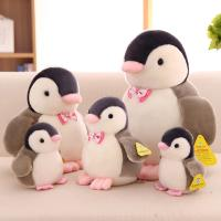 China Customized Personalized Plush Toys Cute Penguin With Bow Tie , White and Black Color wholesale