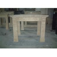 China Simple Design Beige Marble Fireplace Surround For House Fireplace Mantel wholesale