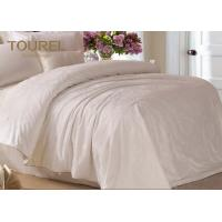 China Jacquard Cotton Hotel Quality Bed Linen / Bed Sheet / Hotel Bed Linen With Customized Logo wholesale