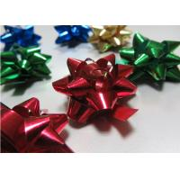"Quality 2.5"" Diameter gift wrap and bows , Multi metallic pom pom bow for Festival Decoration for sale"