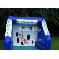 China Customized Size PVC Tarpaulin Inflatable Sport Games Football Goal on sale