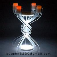 China CH (23) votive glass candle holder with acrylic stand wholesale