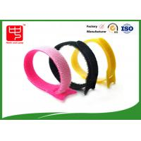 China Customize Pink Hook And Loop Cable Tie / Hook And Loop Fastener Straps 15*180mm wholesale