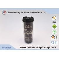 China V Shape Double Wall Drinking Plastic Coffee Cups With Lids 350ml 12oz wholesale
