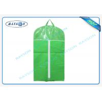 China Customized Mens Non Woven Suit Cover With Good Zipper And PVC Window wholesale