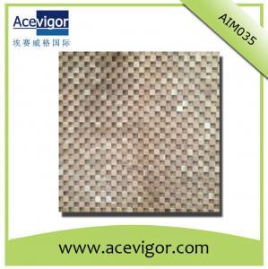 China Wood mosaic tile solid wood wall tile wholesale