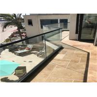 China Commercial Frameless Glass Railing System With Powder Coated Aluminum U Channel wholesale