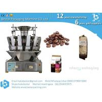 China Coffee bean quad pouch packing machine with gusset plastic bags wholesale