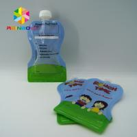 China Reusable Food Pouch Packaging / Leak Proof Baby Food Pouches With Dual Zipper wholesale