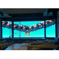 Buy cheap Wall mounted curved led screen p3.91 indoor video wall display from wholesalers