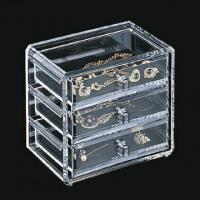 China Clear Acrylic Jewelry Display Case Holder Stand With Silk-Screen Logo wholesale