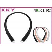 China Neckband Bluetooth Headphone With Retractable Earbuds / Vibratory Function wholesale