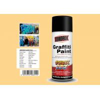 China Cream Yellow Color Graffiti Spray Paint Acrylic Material For Decorating wholesale