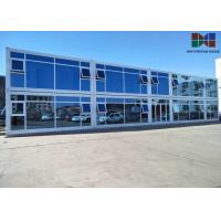 China Painting Roof Panel Office Container House With Double - Glazing Glass Curtain wholesale