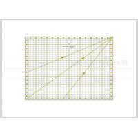 China 16cm Square Patchwork Quilting Rulers with Grids / Sector Lines KPR1616 wholesale