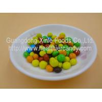 China Good Taste Crispy Chocolate Cacao Beans Yellow / Red / Blue Colour Jelly Candy wholesale