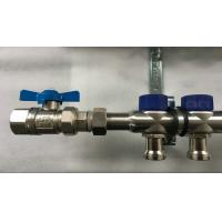 China Short Flowmeter S S 304 9 zones House Water Manifold for Floor Heating Systems wholesale