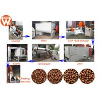 China Grass Carp Fish Feed Production Line Electric With Pellet Size 0.9MM-15MM wholesale