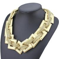 China Wholesale Plastic CCB hand woven Statement Necklace Elegant Luxury Chain Jewelry on sale