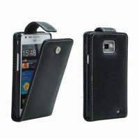 China Flip Case for Samsung Galaxy S2 (I9100)/Smartphones, 100pcs MOQ, Various Colors are Available wholesale