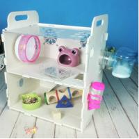 China Customized Acrylic pet house acrylic reptile box hamster cage,double layers acrylic comfortable hamster cage wholesale