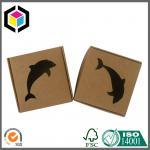 China Small Size Corrugated Shipping Box; Black Color Logo Print Kraft Paper Box wholesale