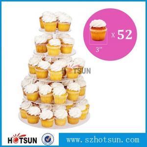 Quality Customized modern style 4 tier round plexiglass cake stand,acrylic cupcake stand for sale