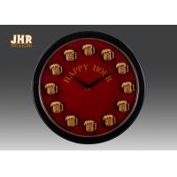 China Round Wood Wall Clock Round Wall Clock Decorative Wall Art Signs Vintage / Retro Style wholesale
