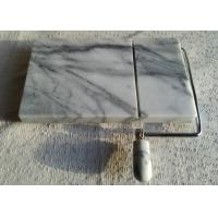 China 5 Marble Cheese Slicer , Marble Cheese Board Cutter Anti Slip White With Vein wholesale