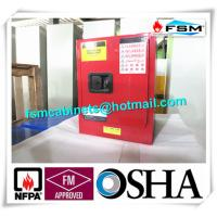 China Red Flammable Combustible Storage Cabinets Two Vents Single Door wholesale