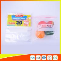 China Biodegradable Freezer ZipLock Plastic Bags For Supermarket / Household wholesale