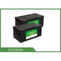 China Lightweight Lithium ion Rechargeable Marine Battery 12V 250AH 2 years Warranty wholesale