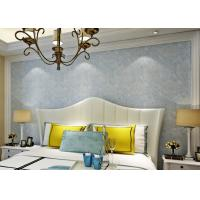 China Soundproof Removable European Style Wallpaper , Blue 3d Silver Wallpaper wholesale