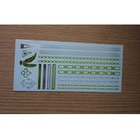 China Waterproof long lasting Metallic Tattoo Jewelry with Stamping and silk screen printing wholesale