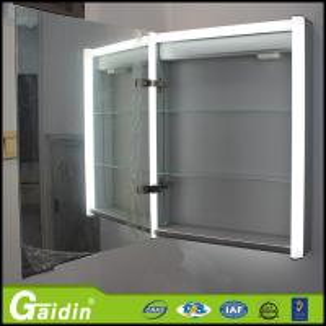 China Illuminated furniture wall mounted mirror aluminum bathroom cabinet wholesale