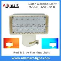 China 18LED Red & Blue Flashing Solar Signal Warning Light for Government Project Traffic High Building Ship Boat Bridge Tower wholesale